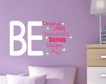 Teen Wall Decal Girls Bedroom Decor Vinyl Wall Saying Inspirational Quote  Decal Vinyl Lettering Wall Sticker