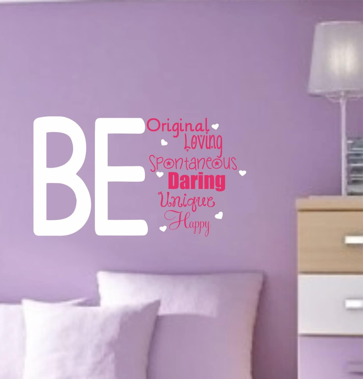 Teen wall decal girls bedroom decor vinyl wall saying for Teen wall decor