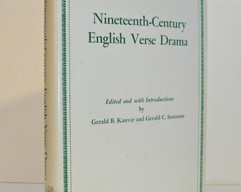 Nineteenth Century English Verse Drama Anthology Wordsworth Coleridge Byron Keats Shelley Arnold Browning Tennyson Swinburne Vintage Book