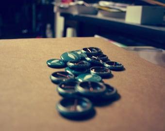 25 Custom 1 Inch Pins - Weddings - Parties - Bands