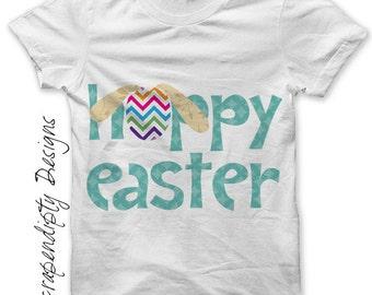 Easter Iron on Transfer - Spring Shirt Design / Kids Easter Shirt / Baby Hoppy Easter / Toddler Easter Outfit / Girls Clothing Tshirt IT153