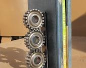 Automotive Gear Steampunk Bookends Desk Accessory