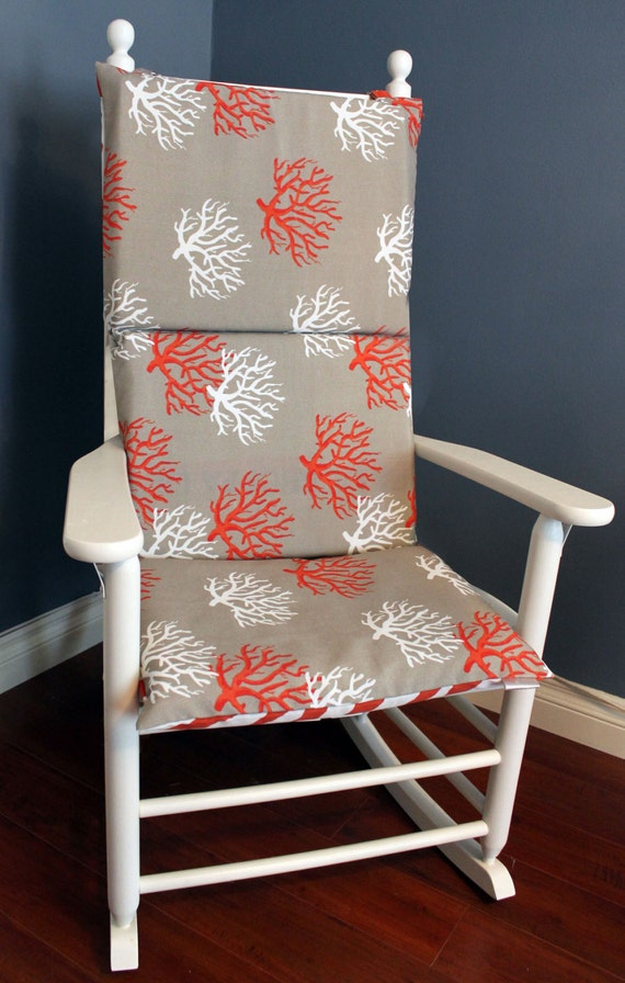 Rocking Chair Cushion Coral Zebra By RockinCushions On Etsy