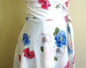 Floral cotton wrap, very pretty summer dress Limited Edition
