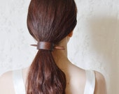 Walnut barrette hair pin unisex hair accessories