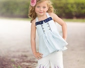 Lucy Ruffle Capri and Full Length Pants {Cotton or Knit} PDF Pattern & Tutorial, All sizes 2- 10 years Included