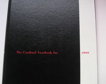 Vintage Yearbook - Catholic University of America (CUA), The Cardinal Yearbook for 1960. Memory Lane,Keepsake