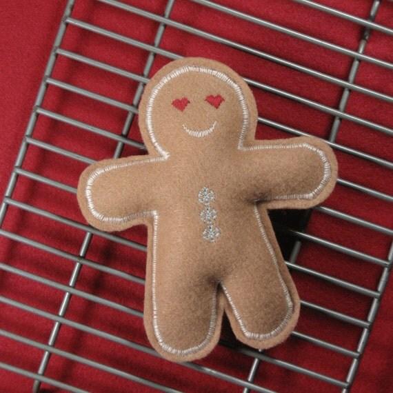 Gingerbread Man Organic Catnip Cat Toy
