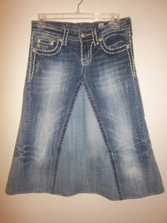 items similar to custom order below knee jean skirt on etsy