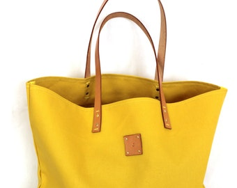 Canvas Tote... SPECIALIZED LABEL...Petite GOLDENROD tote bag