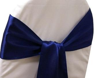 100 Navy Blue Sashes