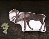 Handmade Toy Caribou. Organic Cotton Animal Pillow by Aly Parrott on Etsy. Made to Order.