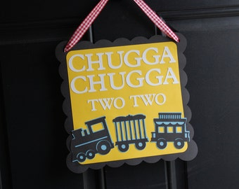 Train Door Sign, Train Party, Train Party Supplies, Choo Choo, All Aboard, Happy Birthday, Chugga Chugga
