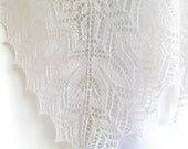 White lace shawl hand knit bridal wrap wedding scarf cover up