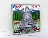 Buddha Light Switch Plate Cover Double spiritual peaceful serenity gift lightswitch koi fish