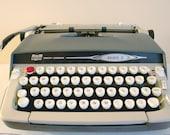 Mid-Century 1960s Smith Corona Galaxie II Manual Typewriter