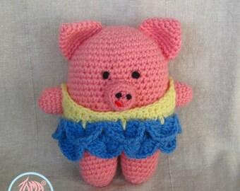 Amigurumi Ballerina Piggy - PDF Pattern (Digital Download)