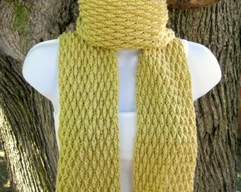 Crochet Scarf Pattern - Twisted Ridges Scarf - PDF file - PATTERN ONLY