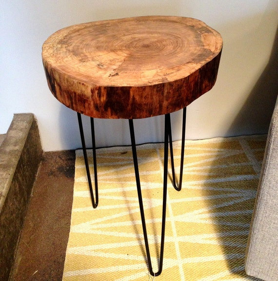 Items Similar To Natural Live Edge Round Slab Side Table