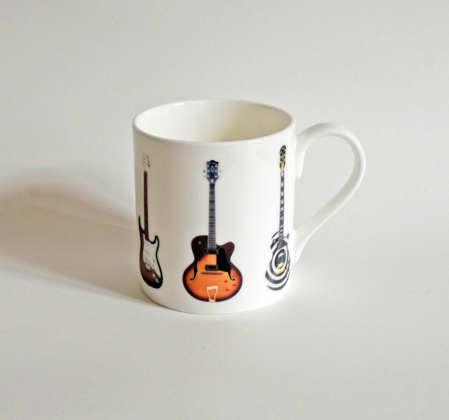 guitars ceramic mug design
