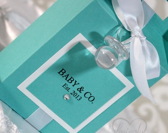Baby Shower Favors -  Gable Box - 1 Dozen - Assembly Required