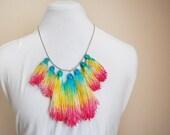 Paradise - hand dyed tassel necklace/murMur