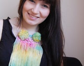 Wild - hand dyed fringe necklace / murMur