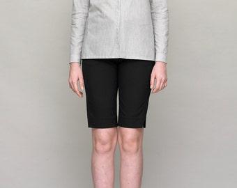 Grey Shirt with Pocket - Women Shirt - Cotton Shirt - Summer Shirt - Women Blouse - Cotton Blouse