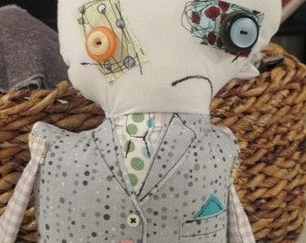 Stuffed Zombie Art Doll Scott