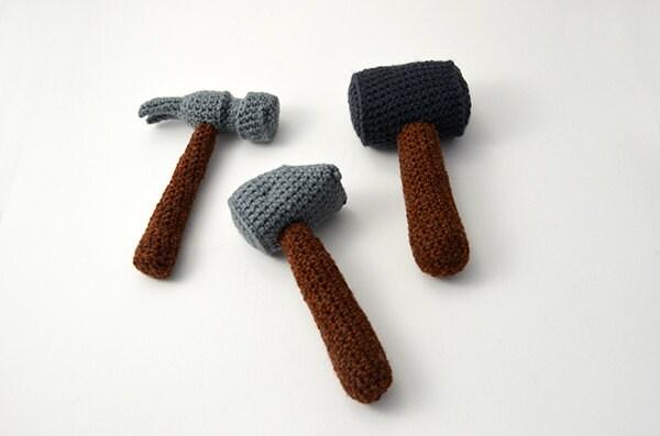 Amigurumi Crochet Tools : Hammer Crochet Pattern Set Hammers Crochet Pattern Amigurumi