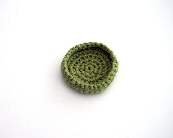 Crochet Bowl - 100% Cotton - Pistachio Green