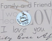 Couple Necklace -- Engagement -- Hand Stamped Necklace --  Gift Box included