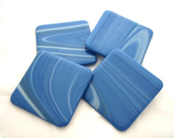 Fused Glass Coasters Set of 4