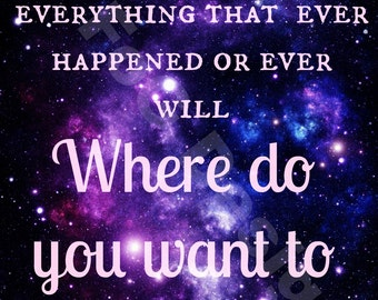 Doctor Who Digital Print - All of Time and Space - 11th Doctor Quote