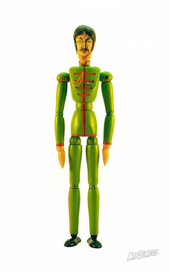 John Lennon Sgt. Pepper's Art Doll - Sculpture - Articulated Wooden Figure - Original Pop Art