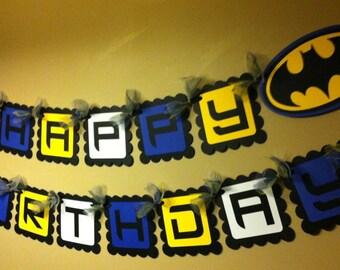 Batman Inspired Happy Birthday Banner