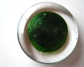 Lean Green Adventurine - art glass paperweight