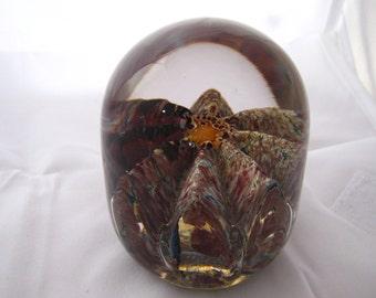 Rare Earth - hand blown art glass paperweight