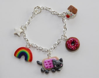 Yummy Nyan Cat Bracelet - From Gitana's Yummies New Collection