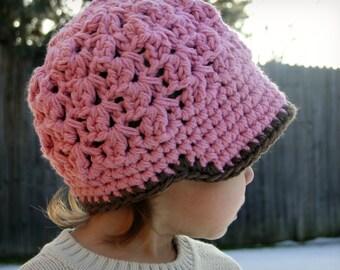 Kids Hat, crochet baby hat, crochet newsboy hat, hat for boys, newborn hat, women's hat
