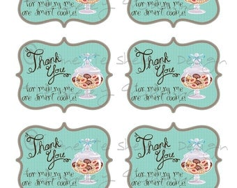 Smart cookie gift tag teacher appreciation gift idea diy printable teacher appreciation one smart cookie gift tags negle Image collections