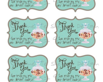 """DIY Printable Teacher Appreciation """"One Smart Cookie"""" Gift Tags"""