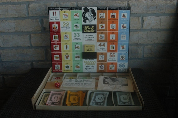 Vintage Rich Uncle Board Game 1959 Parker Brothers Stock