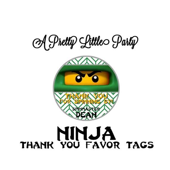 Custom Ninja Favor Tags - Ninja Party - Party Supplies