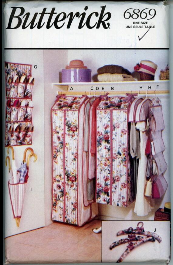Closet Accessories Pattern Butterick 6869 1990s Garment Gown