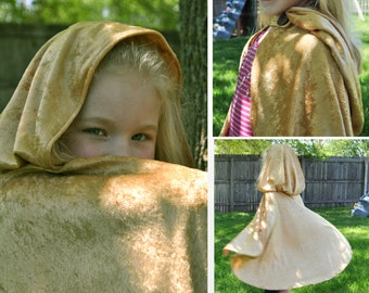 "Many Colors - Custom Fancy Hooded Cape Cloak 27"" Merida Frozen Prince Charming Princess Fairy Magician Elf Hobbit Witch Wizard Dress Up"