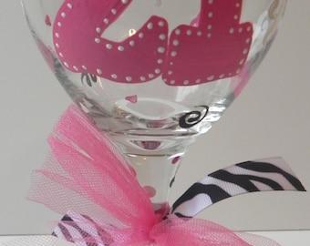 Birthday Wine Glass - 21