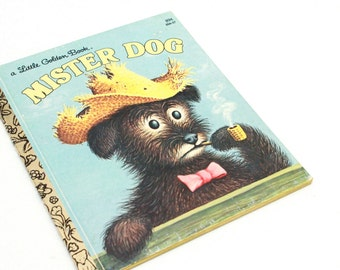 Vintage Little Golden Book,  Mister Dog 1980