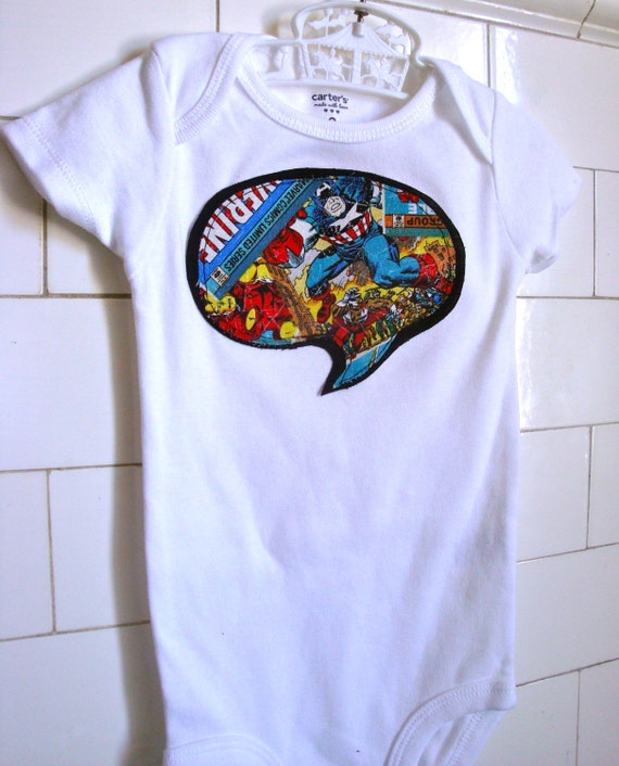 Avengers/Iron Man/ Captain America Onesie