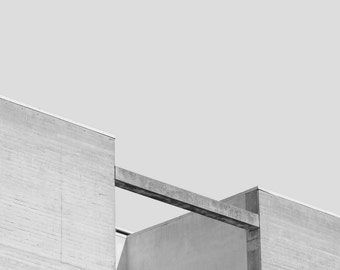 SLEEPY BUILDINGS | Architecture photo print | minimalist photography | grey geometric art print | brutalist photography | black and white